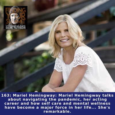 Cover art for Mariel Hemingway: Mariel Hemingway talks about navigating the pandemic, her acting career and how self care and mental wellness have become a major force in her life... She's remarkable.