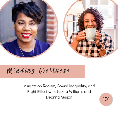 Cover art for Insights on Racism, Social Inequality and Right Effort with La'Kita Williams and Deanna Mason