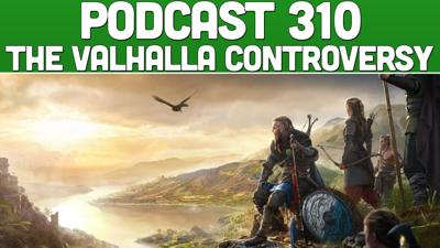 Cover art for Podcast 310: The Valhalla Gameplay Controversy