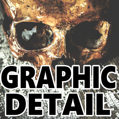 Graphic Detail is a serious-tone true crime podcast that covers lesser known brutal crimes, keeping in all the explicit facts, and mentions all the interesting rumors as well.