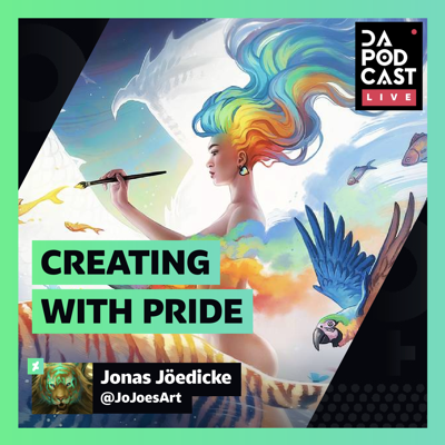 Cover art for The DeviantArt Podcast: LIVE | Creating with Pride (w/ JoJoesArt)
