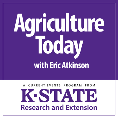 Agriculture Today is a daily program hosted by Eric Atkinson and distributed to radio stations throughout the state. It features K-State agricultural specialists and other experts examining agricultural issues facing Kansas and the nation. Kansas State University has produced daily, ag-related broadcasts since KSAC radio first went on the air in 1924.   Send comments, questions or requests for copies of past programs to ksrenews@ksu.edu.  K‑State Research and Extension is a short name for the Kansas State University Agricultural Experiment Station and Cooperative Extension Service, a program designed to generate and distribute useful knowledge for the well‑being of Kansans. Supported by county, state, federal and private funds, the program has county Extension offices, experiment fields, area Extension offices and regional research centers statewide. Its headquarters is on the K‑State campus in Manhattan.