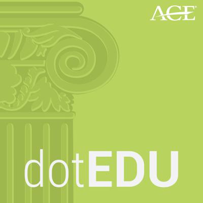 Each episode of dotEDU presents a deep dive into major higher education issues impacting college campuses and students across the country. Hosts from the American Council on Education joined by guest experts lead you through thought-provoking conversations around topics such as campus free speech, diversity in admissions, college costs and affordability, and more.
