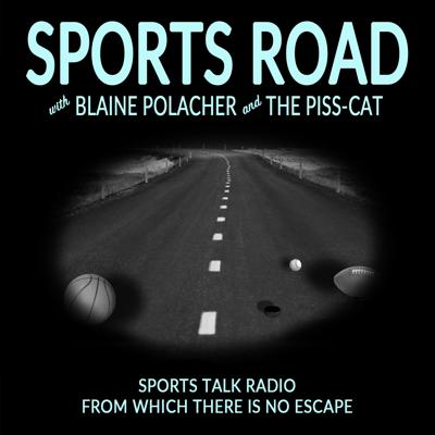 Honk honk! You just pulled on to the SPORTS ROAD. Join your hosts Blaine Polacher (Hunter Nelson) and The Piss-Cat (Ryan Haney) as they white-knuckle the wheel and ram you straight into the rudest sports talk radio of any conceivable universe. Be sure to buckle up, sports fans! One wrong take on the SPORTS ROAD could send you tumbling into the drainage ditch of space or careening over the median of time!