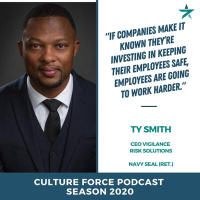 Cover art for Preventing a Culture of fear, promoting training, and Minority Report with Ty Smith  (Retired Navy SEAL, Founder/CEO of Vigilance Risk Solutions)