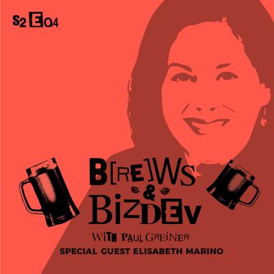 Cover art for Brews & BizDev - Better Sales Prospecting & Outreach with Elisabeth Marino