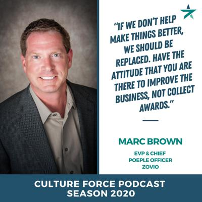Cover art for Everyone talks about their care and love for people, but who is in charge of taking care of your people and fielding the best talent with Marc Brown