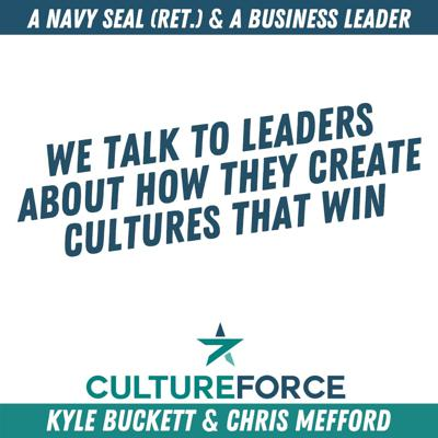 Culture junkies Chris Mefford and Kyle Buckett spend their inaugural season of Culture Force bringing you inside the mind of some of their favorite business leaders, entrepreneurs, and even congressmen. From Chick-fil-A to the NBA, this season's guests have designed, created, and impacted culture at the some of the biggest names in the Fortune 500, and they've sat down with Chris and Kyle to share how they did it and what you can learn from them. Although most guests have worked in the C-suite, started their own business, or led hundreds of employees, this podcast is perfect for anyone interested in culture, leadership, and teams – from recent graduates and startup mavens to venture capitalists and successful CEOs.