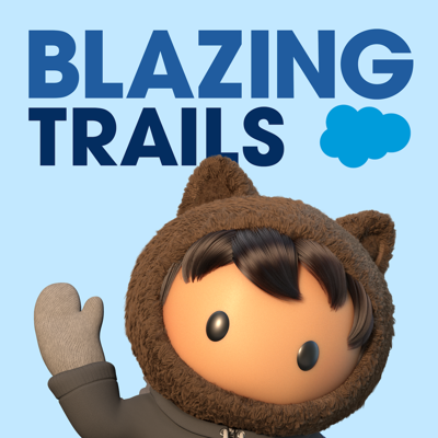 Have you ever wished you could be in the same room with an inspirational leader you admire? To hear them tell their story of how they became the Trailblazer they are today? At Salesforce, we're fortunate enough to hear these conversations all the time. And now, you can experience those conversations too. Every week Blazing Trails brings you these stories from Trailblazers who are leading the charge on topics like the future of work, equality, sustainability, well-being, and technology.
