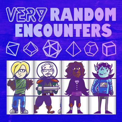 Welcome to Very Random Encounters, a show where we play pen and paper RPGs in which we've randomly determined as many things as is possible, including characters, villains, names, places, and other weirder stuff! It all comes together to be a very random encounter. We're an actual play roleplaying game podcast by four friends who love the challenge of telling a story whose details are all prompted by random rolls. You can start with the first episode in any given season.