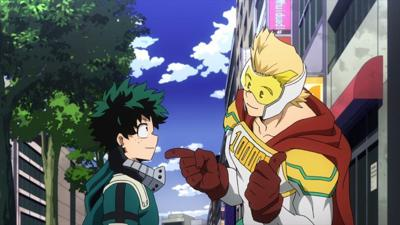 "Cover art for My Hero Academia s4e67: ""Fighting Fate"""