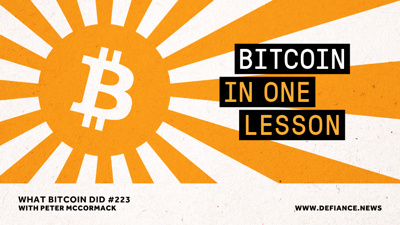 Cover art for Bitcoin in One Lesson