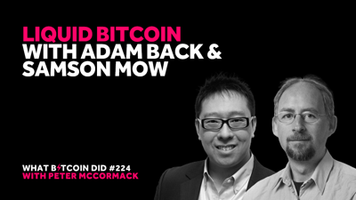 Cover art for Liquid Bitcoin with Adam Back & Samson Mow