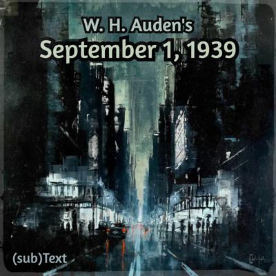 "Cover art for Clever Hopes in W. H. Auden's ""September 1, 1939"""